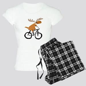 Moose Riding Bicycle Women's Light Pajamas