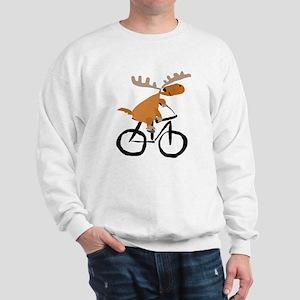 Moose Riding Bicycle Sweatshirt
