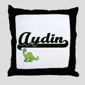Aydin Classic Name Design with Dinosa Throw Pillow