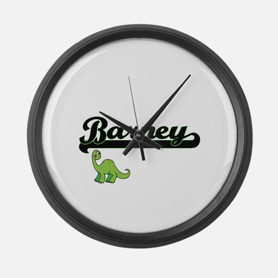 Barney Classic Name Design with D Large Wall Clock
