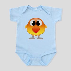 Lovely Orange and Yellow Baby Bird Body Suit