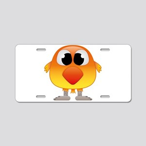 Lovely Orange and Yellow Ba Aluminum License Plate