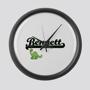 Bennett Classic Name Design with Large Wall Clock