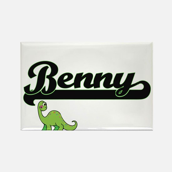 Benny Classic Name Design with Dinosaur Magnets