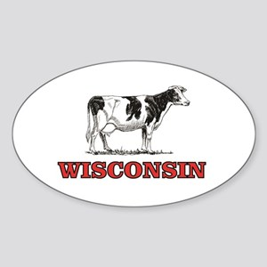 cow of red wisconson Sticker