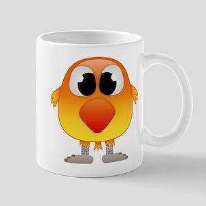 Lovely Orange and Yellow Baby Bird Mugs