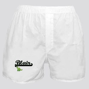 Blair Classic Name Design with Dinosa Boxer Shorts