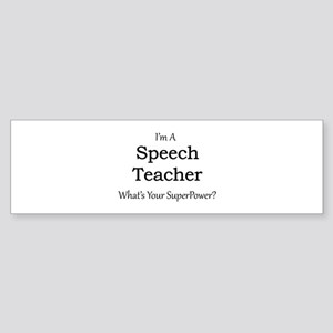 Speech Teacher Bumper Sticker