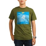 Go with the Flow Organic Men's T-Shirt (dark)