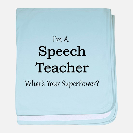 Speech Teacher baby blanket