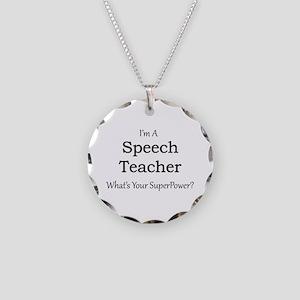Speech Teacher Necklace Circle Charm