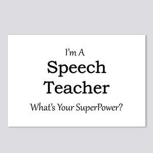Speech Teacher Postcards (Package of 8)
