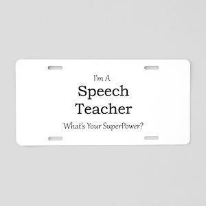 Speech Teacher Aluminum License Plate