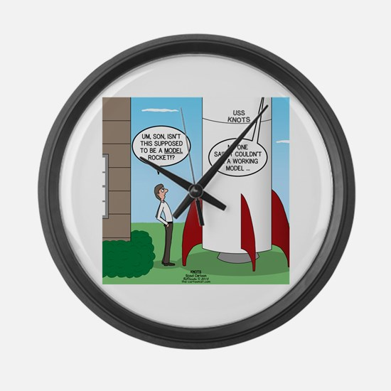 Model Rocket? Large Wall Clock