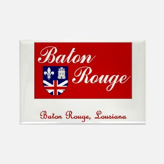 Baton Rouge LA Flag Rectangle Magnet