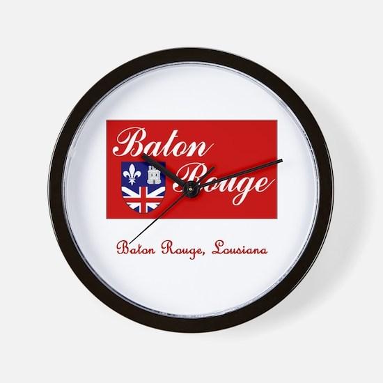 Baton Rouge LA Flag Wall Clock