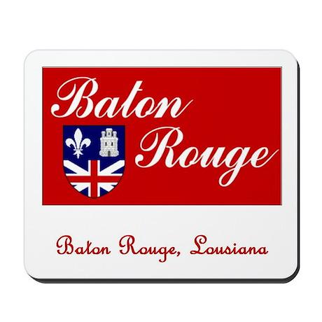 Baton Rouge LA Flag Mousepad