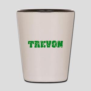 Trevon Name Weathered Green Design Shot Glass