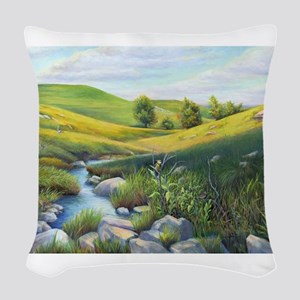 SRose Chaseing the Light Woven Throw Pillow