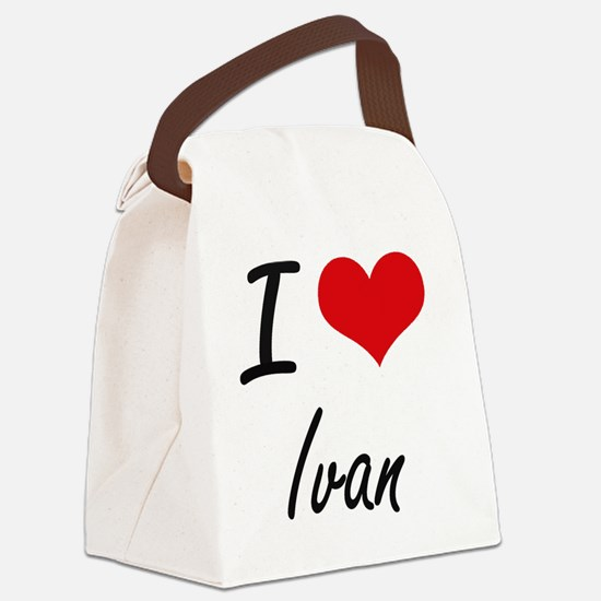 I Love Ivan Canvas Lunch Bag