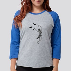 Dancing with the bats -skeleto Long Sleeve T-Shirt