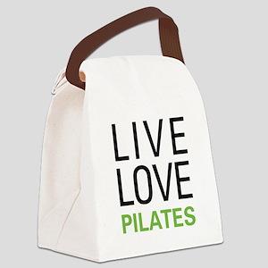 Live Love Pilates Canvas Lunch Bag