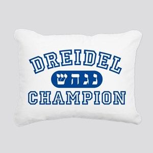 Dreidel Champion Rectangular Canvas Pillow