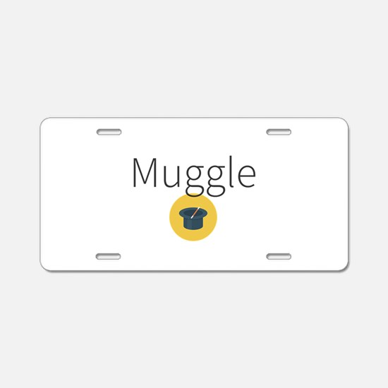 Muggle Aluminum License Plate
