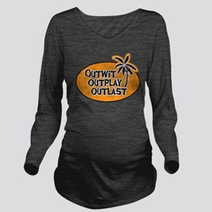 Survivor: Outwit Out Long Sleeve Maternity T-Shirt