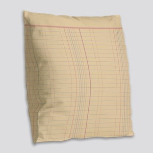 Ledger Paper Burlap Throw Pillow