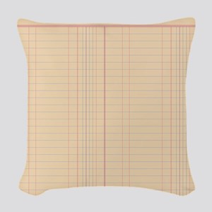 Ledger Paper Woven Throw Pillow