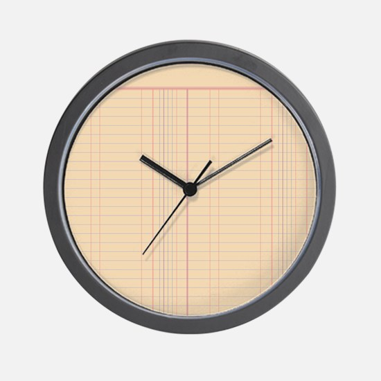 Ledger Paper Wall Clock