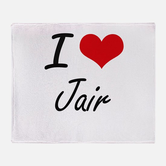 I Love Jair Throw Blanket