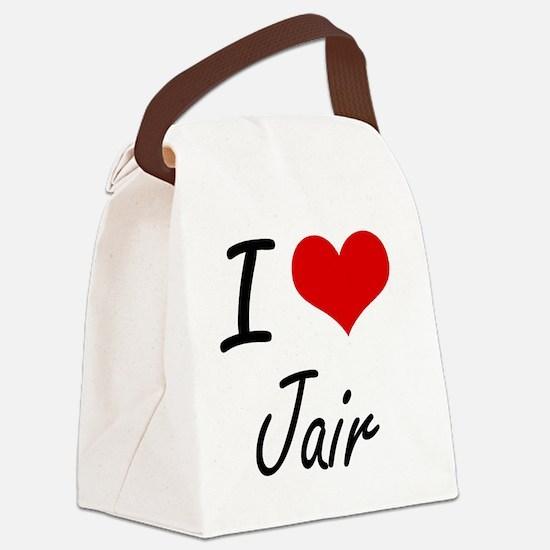 I Love Jair Canvas Lunch Bag