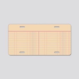 Ledger Paper Aluminum License Plate