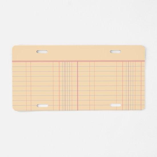 Ledger Paper Aluminum License Plate