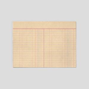 Ledger Paper 5'x7'Area Rug