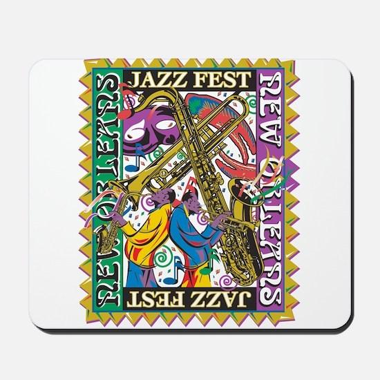 Jazz Fest New Orleans - Bourbon Street Mousepad