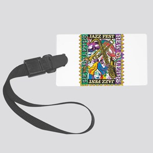 Jazz Fest New Orleans - Bourbon Large Luggage Tag