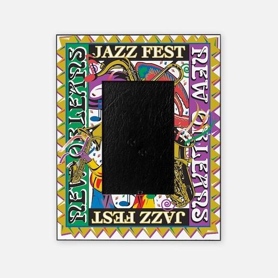 Jazz Fest New Orleans - Bourbon Stre Picture Frame