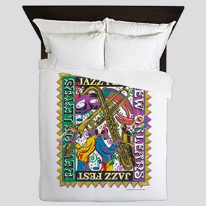 Jazz Fest New Orleans - Bourbon Street Queen Duvet