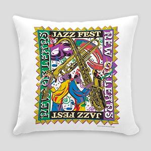 Jazz Fest New Orleans - Bourbon St Everyday Pillow