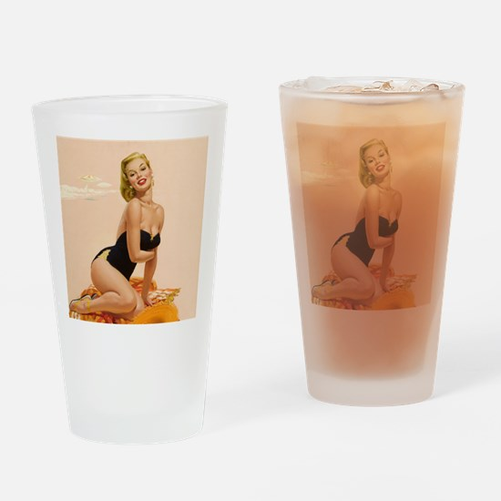 Unique Pinup Drinking Glass