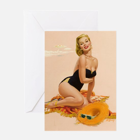 Cute Bettie page Greeting Card
