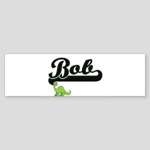 Bob Classic Name Design with Dinosa Bumper Sticker