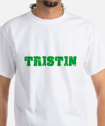 Tristin Name Weathered Green Design T-Shirt