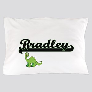 Bradley Classic Name Design with Dinos Pillow Case