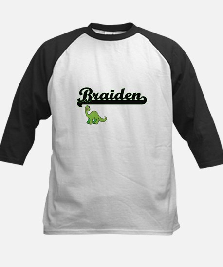 Braiden Classic Name Design with D Baseball Jersey