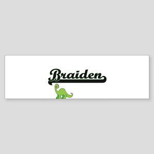 Braiden Classic Name Design with Di Bumper Sticker