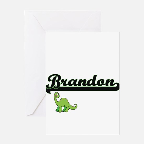 Brandon Classic Name Design with Di Greeting Cards